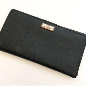 Kate Spade well loved black wallet